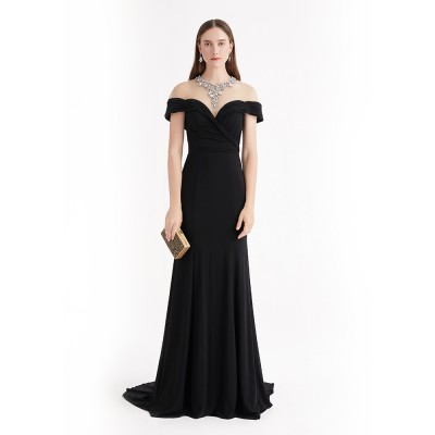 BLACK V-NECK TOP GRADE  MAXI DRESS